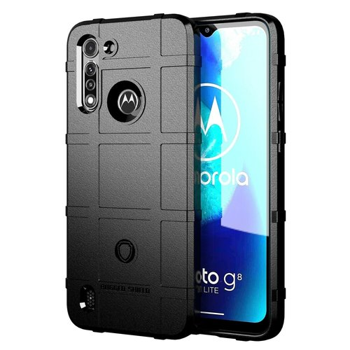 Cover2day Case for Motorola Moto G8 Power Lite - Heavy Duty Armor Shockproof TPU Cover - Black