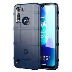 Motorola Moto G8 Power Lite Hoes - Heavy Armor TPU Bumper - Donker Blauw