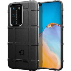 Case for Huawei P40 Pro - Heavy Duty Armor Shockproof TPU Cover - Black