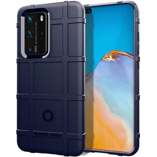 Cover2day Case for Huawei P40 Pro - Heavy Duty Armor Shockproof TPU Cover - Blue