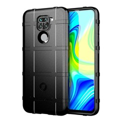 Case for Xiaomi Redmi Note 9 - Heavy Duty Armor Shockproof TPU Cover - Black