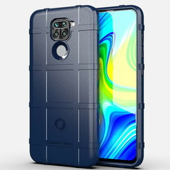 Case for Xiaomi Redmi Note 9 - Heavy Duty Armor Shockproof TPU Cover - Blue