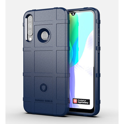 Cover2day Case for Huawei Y6P - Heavy Duty Armor Shockproof TPU Cover - Blue