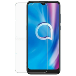 Alcatel 1S (2020) Screenprotector - Tempered Glass Screenprotector - Case-Friendly