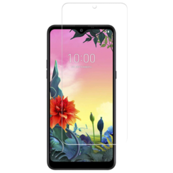 LG K50s screenprotector - Tempered Glass Screenprotector - Case-Friendly