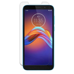 Motorola Moto E6 Play screenprotector - Tempered Glass Screenprotector - Case-Friendly