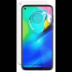 Motorola Moto G8 Screenprotector - Tempered glass Screenprotector - Case-Friendly
