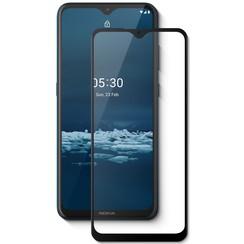 Nokia 5.3 Screenprotector - Full Cover Screenprotector - Case-Friendly - Zwart