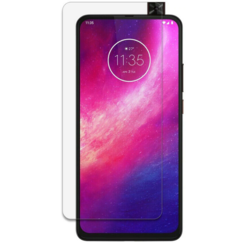 Motorola One Hyper Screenprotector - Tempered glass Screenprotector - Case-Friendly