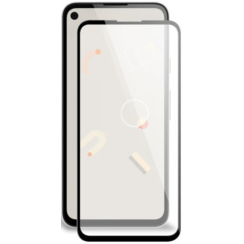 Google Pixel 4a Screenprotector - Full Cover Screenprotector - Case-Friendly - Zwart