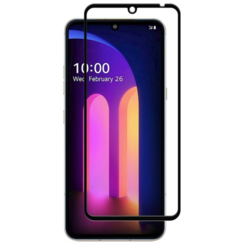 LG V60 ThinQ 5G Screenprotector - Full Cover Screenprotector - Case-Friendly - Zwart