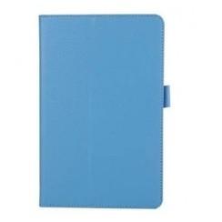 Lenovo Tab 4 8.0 - Litchi Flip Hoes - Licht Blauw