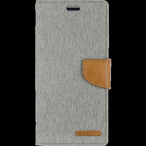 Mercury Goospery Case for Samsung Galaxy M10 - Mercury Canvas Diary Case - Flip Cover - Red