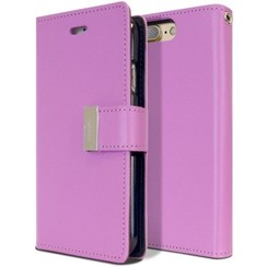 Case for iPhone 7 Plus / iPhone 8 Plus - Rich Diary Case - Flip Cover Purple