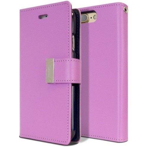 Mercury Goospery Case for iPhone 7 Plus / iPhone 8 Plus - Rich Diary Case - Flip Cover Purple