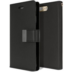 Case for iPhone 7 Plus / iPhone 8 Plus - Rich Diary Case - Flip Cover Black