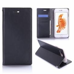 iPhone 7 Plus / iPhone 8 Plus - Blue Moon Wallet Case Zwart