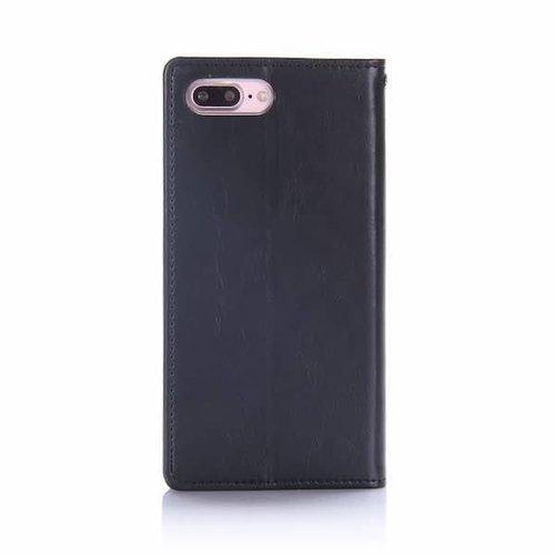 Mercury Goospery Case for iPhone 7 Plus / iPhone 8 Plus - Blue Moon Case - Flip Cover Black