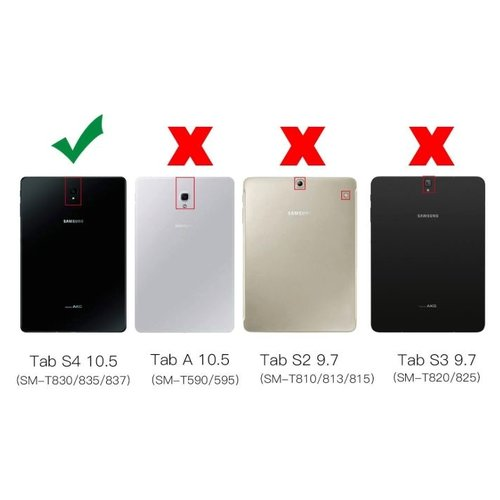 Cover2day Case for Samsung Galaxy Tab S4 10.5 (2018) - 360 Degree Rotation Stand Cover - White