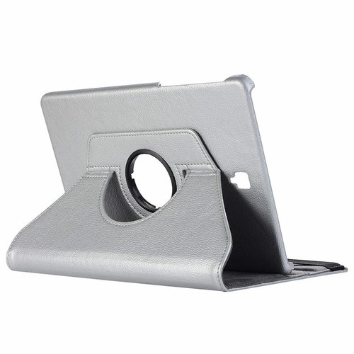 Cover2day Case for Samsung Galaxy Tab S4 10.5 (2018) - 360 Degree Rotation Stand Cover - Silver