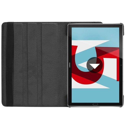 Cover2day Case for Huawei MediaPad M5 10.8 - 360 Degree Rotation Stand Cover - Black