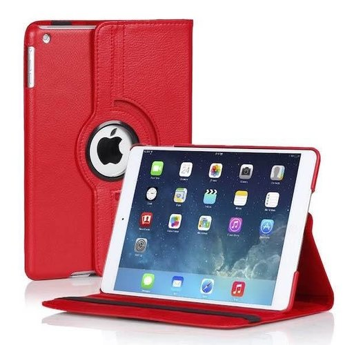 Cover2day Case for iPad 2/3/4/ - 360 Degree Rotation Stand Cover - Red