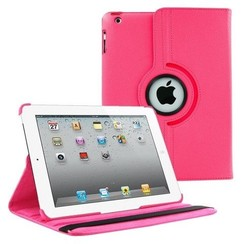 Case for iPad 2/3/4/ - 360 Degree Rotation Stand Cover - Magenta