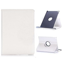 Case for iPad 9.7 - 360 Degree Rotation Stand Cover - White