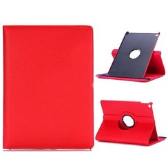 Case for iPad 9.7 - 360 Degree Rotation Stand Cover - Red