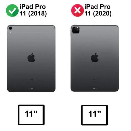 Cover2day iPad Pro 11 - 360 graden draaibare hoes  - Zwart