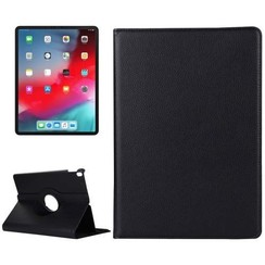 Case for iPad Pro 12.9 (2018) - 360 Degree Rotation Stand Cover - Black