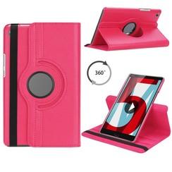 Huawei MediaPad M5 8.4 draaibare hoes Magenta