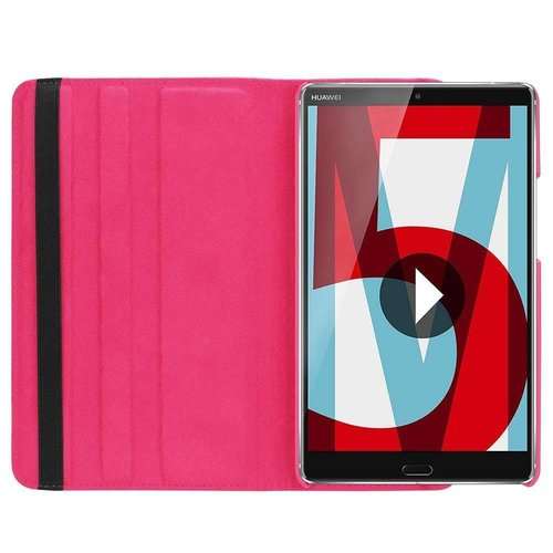 Cover2day Case for Huawei MediaPad M5 8.4 - 360 Degree Rotation Stand Cover - Magenta