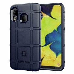 Samsung Galaxy A10s Hoes - Heavy Armor TPU Bumper - Donker Blauw