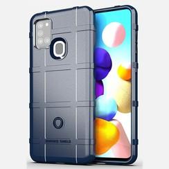 Samsung Galaxy A21s Hoes - Heavy Armor TPU Bumper - Blauw