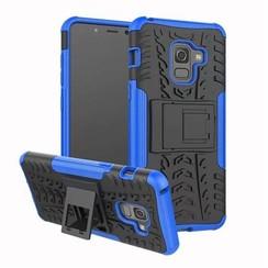 Schokbestendige Back Cover - Samsung Galaxy A8 Plus - Blauw