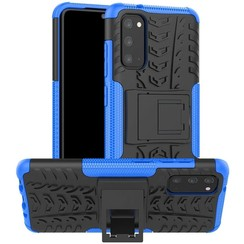 Case for Samsung Galaxy S20 - Heavy Duty Hybrid Tough Rugged Dual Layer Armor - Kickstand Cover - Blue