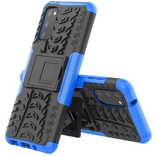 Cover2day  Case for Samsung Galaxy S20 - Heavy Duty Hybrid Tough Rugged Dual Layer Armor - Kickstand Cover - Blue