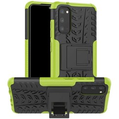 Case for Samsung Galaxy S20 - Heavy Duty Hybrid Tough Rugged Dual Layer Armor - Kickstand Cover - Green