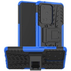 Case for Samsung Galaxy S20 Ultra - Heavy Duty Hybrid Tough Rugged Dual Layer Armor - Kickstand Cover - Blue
