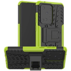 Case for Samsung Galaxy S20 Ultra - Heavy Duty Hybrid Tough Rugged Dual Layer Armor - Kickstand Cover - Green