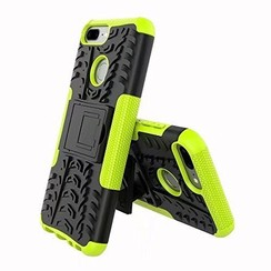 Case for Honor 9 Lite - Heavy Duty Hybrid Tough Rugged Dual Layer Armor - Kickstand Cover - Green