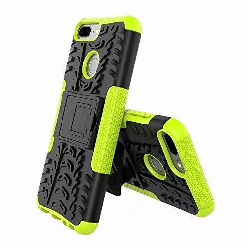 Cover2day  Case for Honor 9 Lite - Heavy Duty Hybrid Tough Rugged Dual Layer Armor - Kickstand Cover - Green