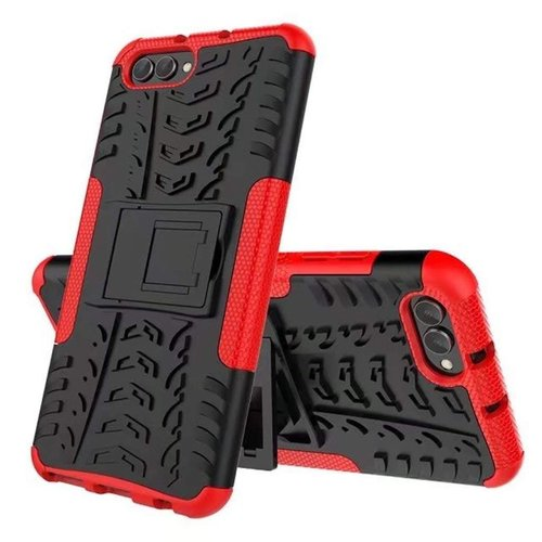 Cover2day  Case for Honor View 10 - Heavy Duty Hybrid Tough Rugged Dual Layer Armor - Kickstand Cover - Red