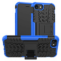Cover2day  Case for iPhone SE 2020 - Heavy Duty Hybrid Tough Rugged Dual Layer Armor - Kickstand Cover - Blue