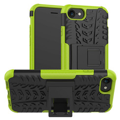 Case for iPhone SE 2020 - Heavy Duty Hybrid Tough Rugged Dual Layer Armor - Kickstand Cover - Green