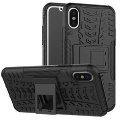 iPhone Xs Max Hoesje - Schokbestendige Back Cover - Zwart