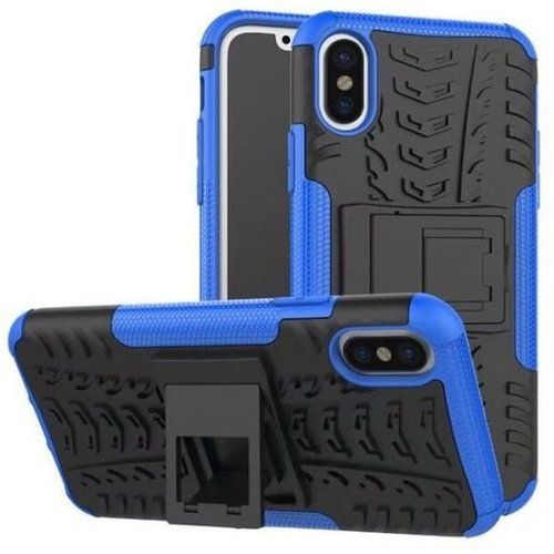 Cover2day  Case for iPhone Xs Max - Heavy Duty Hybrid Tough Rugged Dual Layer Armor - Kickstand Cover - Blue