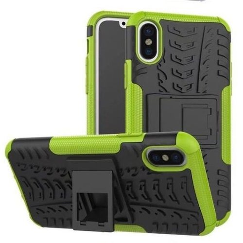 Cover2day  Case for iPhone Xs Max - Heavy Duty Hybrid Tough Rugged Dual Layer Armor - Kickstand Cover - Green