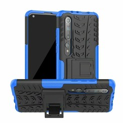 Case for Xiaomi Mi 10 (Pro) - Heavy Duty Hybrid Tough Rugged Dual Layer Armor - Kickstand Cover - Blue